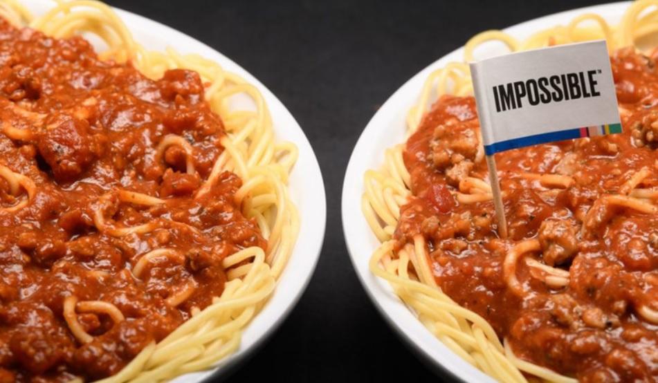 Fazoli's Impossible meat sauce hero