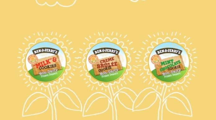 Ben & Jerry's new sunflower butter based non dairy flavors hero